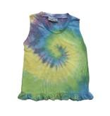 Firehouse Pastel Tie Dye Swirl Ruffle Tank