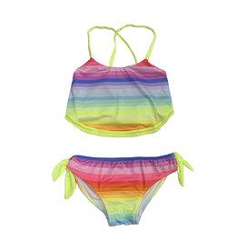 Planet Sea Neon Rainbow Stripes Bikini