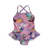 Social Butterfly Infant Unicorn Ruffle 1 Pc Swimsuit