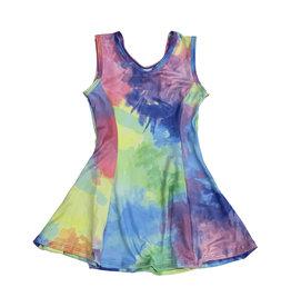 Social Butterfly Bright Watercolor Tank Dress