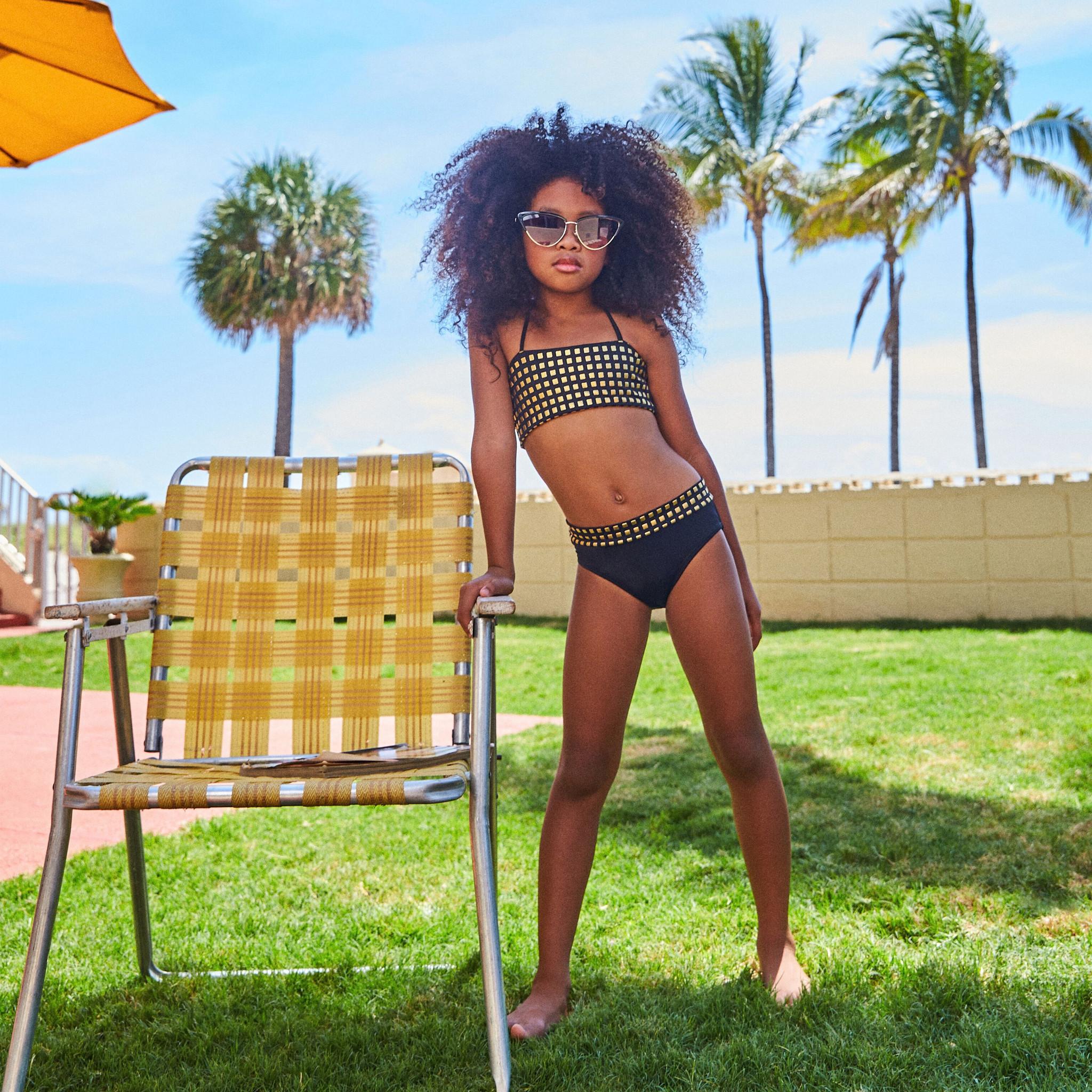 Little Peixoto Gold Stud Print Bikini