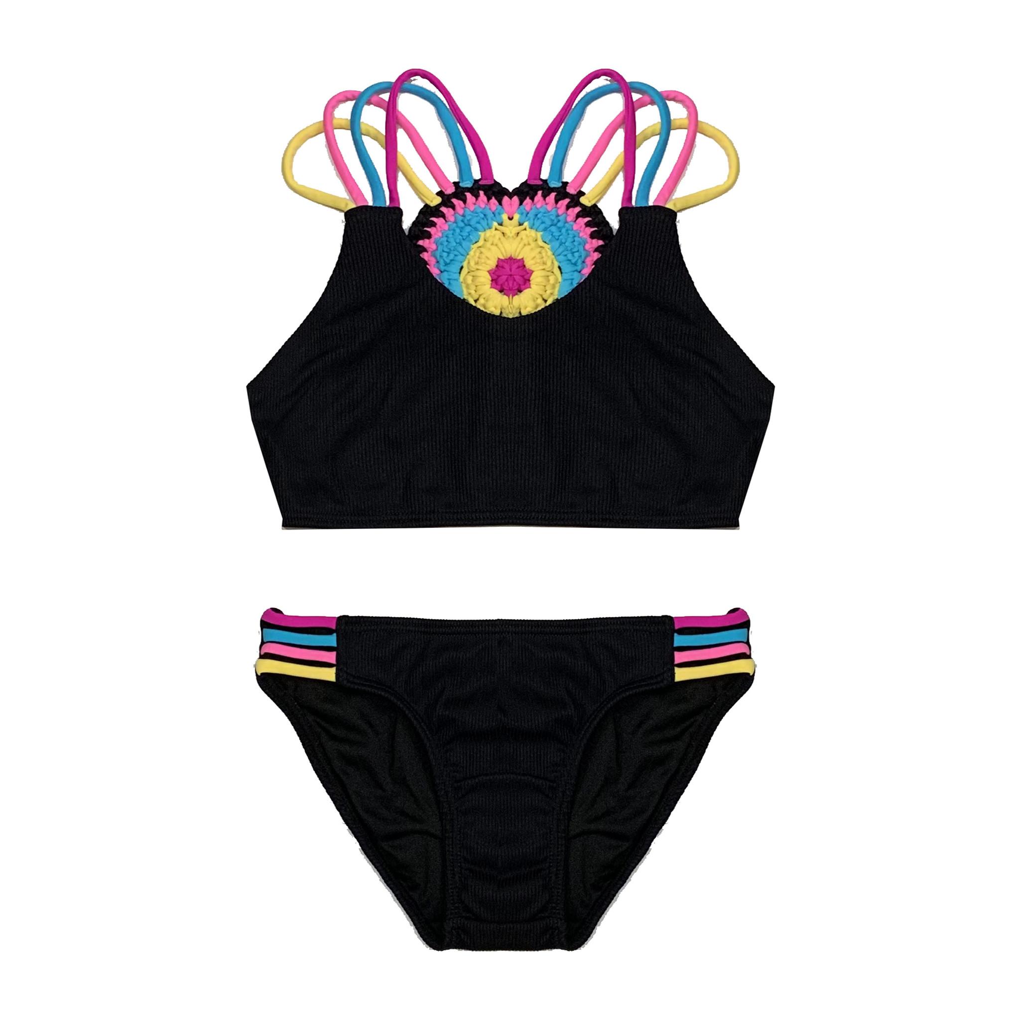 Little Peixoto Macrame Heart Ribbed Bikini