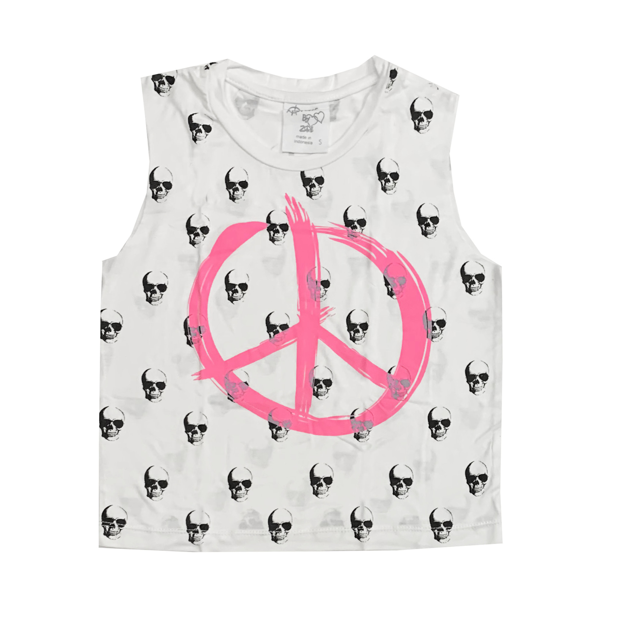 Flowers by Zoe Skull & Peace Print Crop Tank