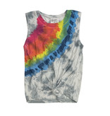 Flowers by Zoe Primary Rainbow Tie Dye Knot Tank