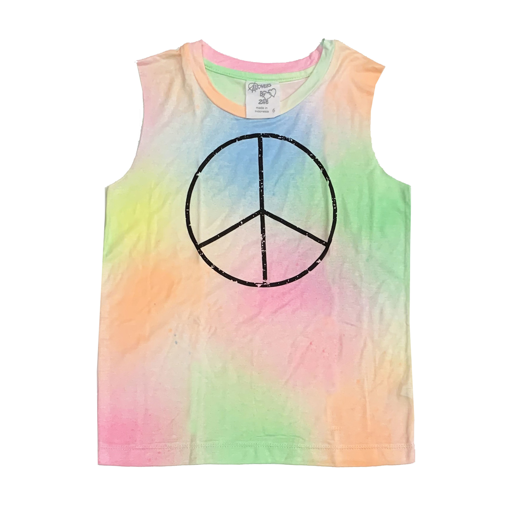 Flowers by Zoe Pastel Spray Tank with Peace