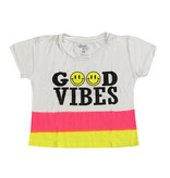 Flowers by Zoe Good Vibes Dip Dye Toddler Crop Tee