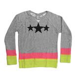 Flowers by Zoe Dip Dye Sweatshirt with Stars