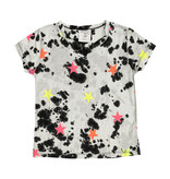 Flowers by Zoe Black & White Tee with Neon Stars