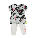 Flowers by Zoe Black & White Infant Set with Neon Stars