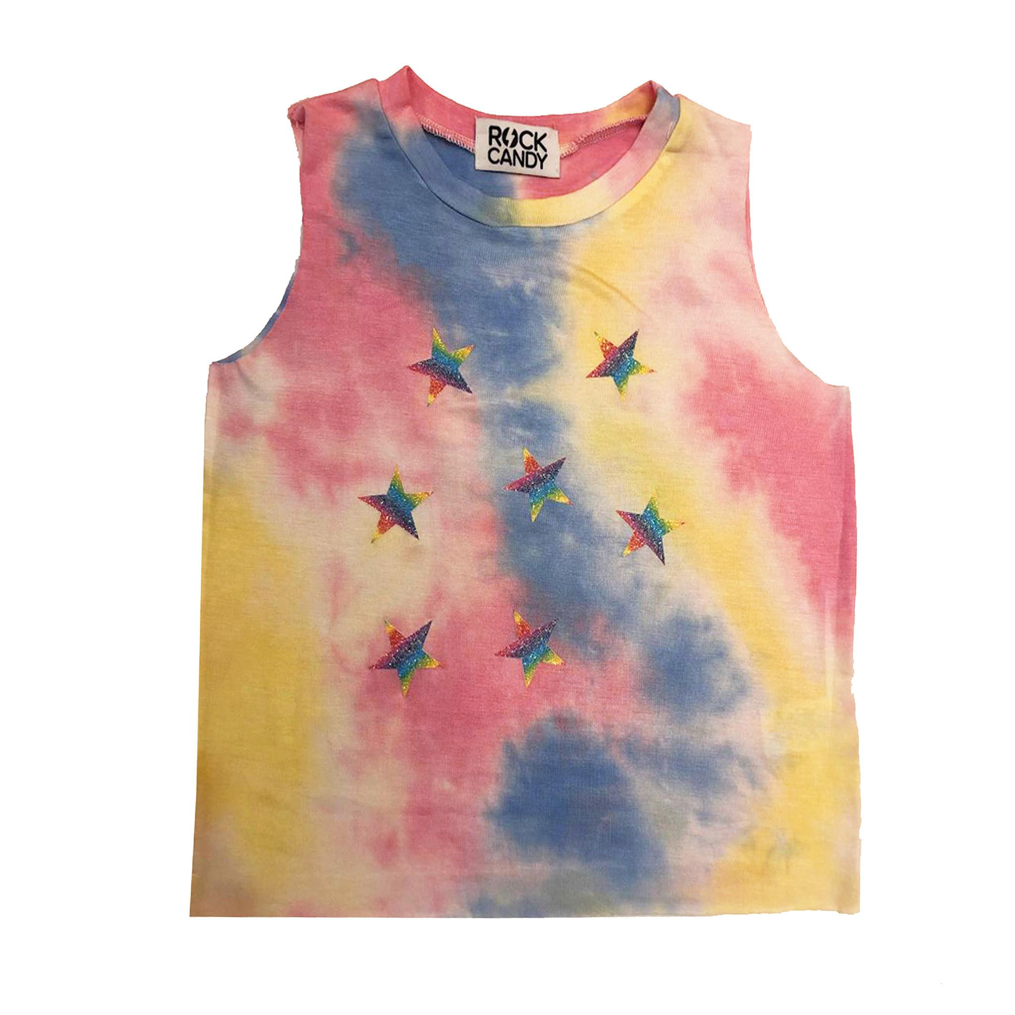 Rock Candy Pastel Tie Dye Glitter Star Tank
