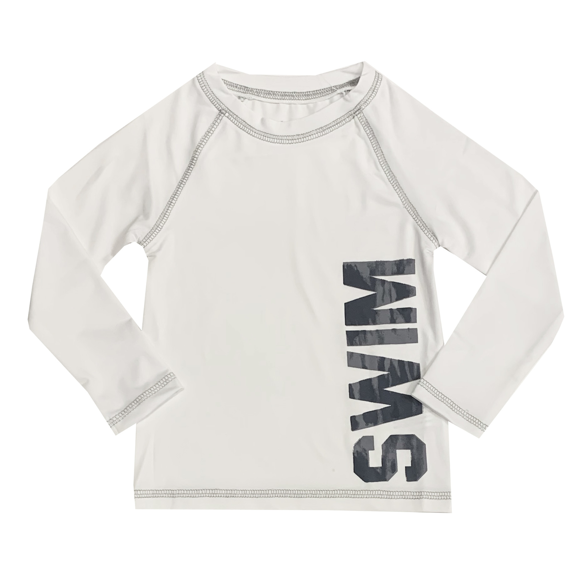 Mish White & Grey Swim Rashguard
