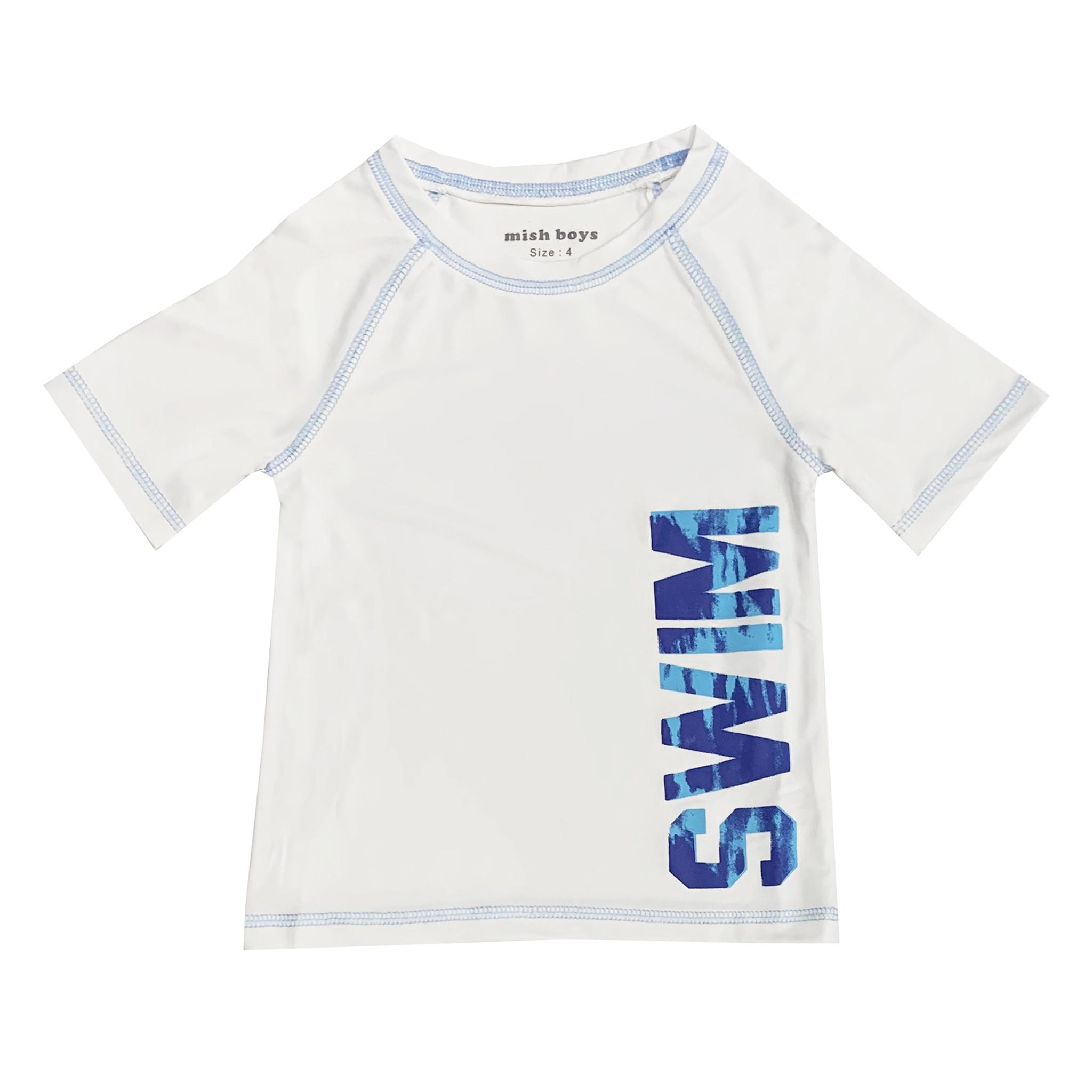 Mish White & Blue Swim Rashguard