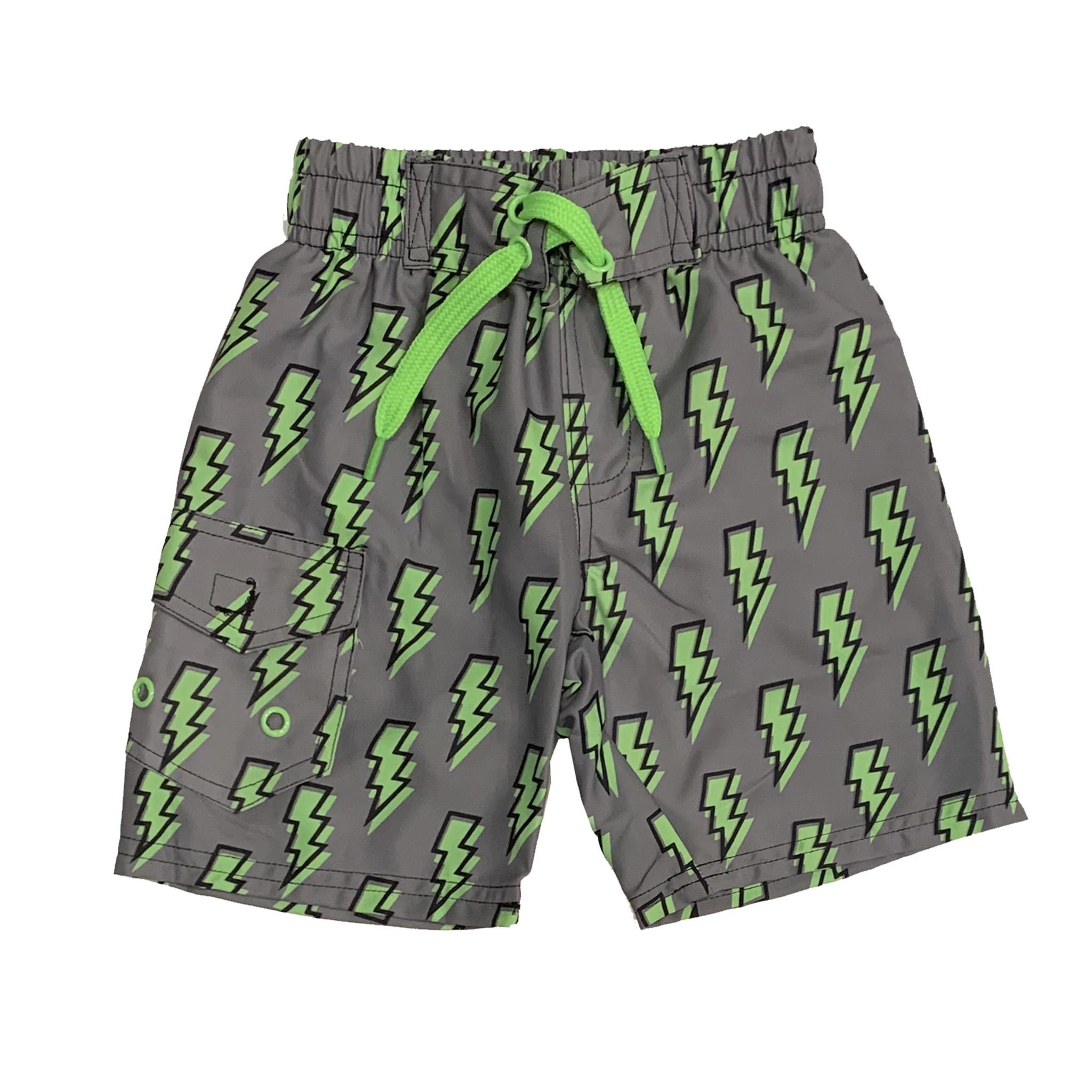 Mish Infant Green Lightning Bolts Swimsuit