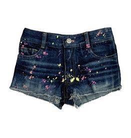 Flowers by Zoe Splatter Paint Denim Shorts