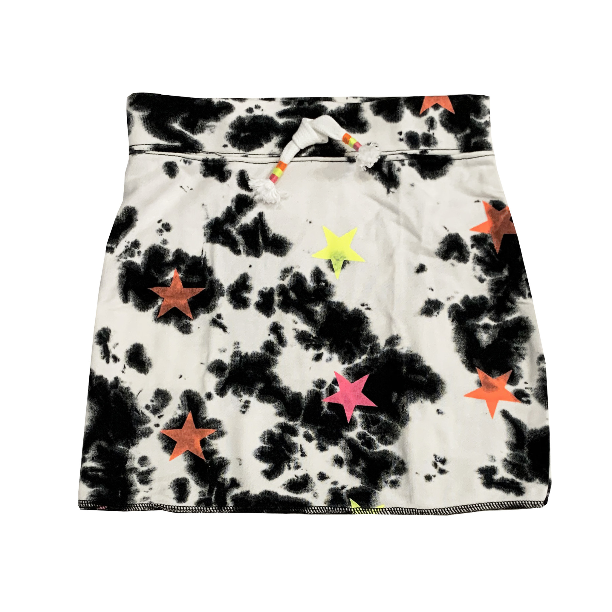 Flowers by Zoe Black & White Skirt with Neon Stars