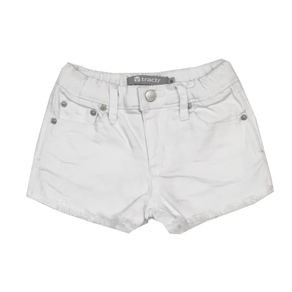 Tractr White Cut Off Shorts