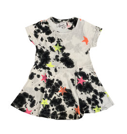 Flowers by Zoe Black & White Infant Dress with Neon Stars