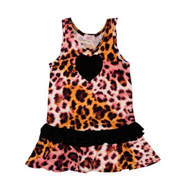 Sofi Pink & Orange Leopard Print Dress