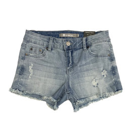 Tractr Light Wash Distressed Cut Off Shorts