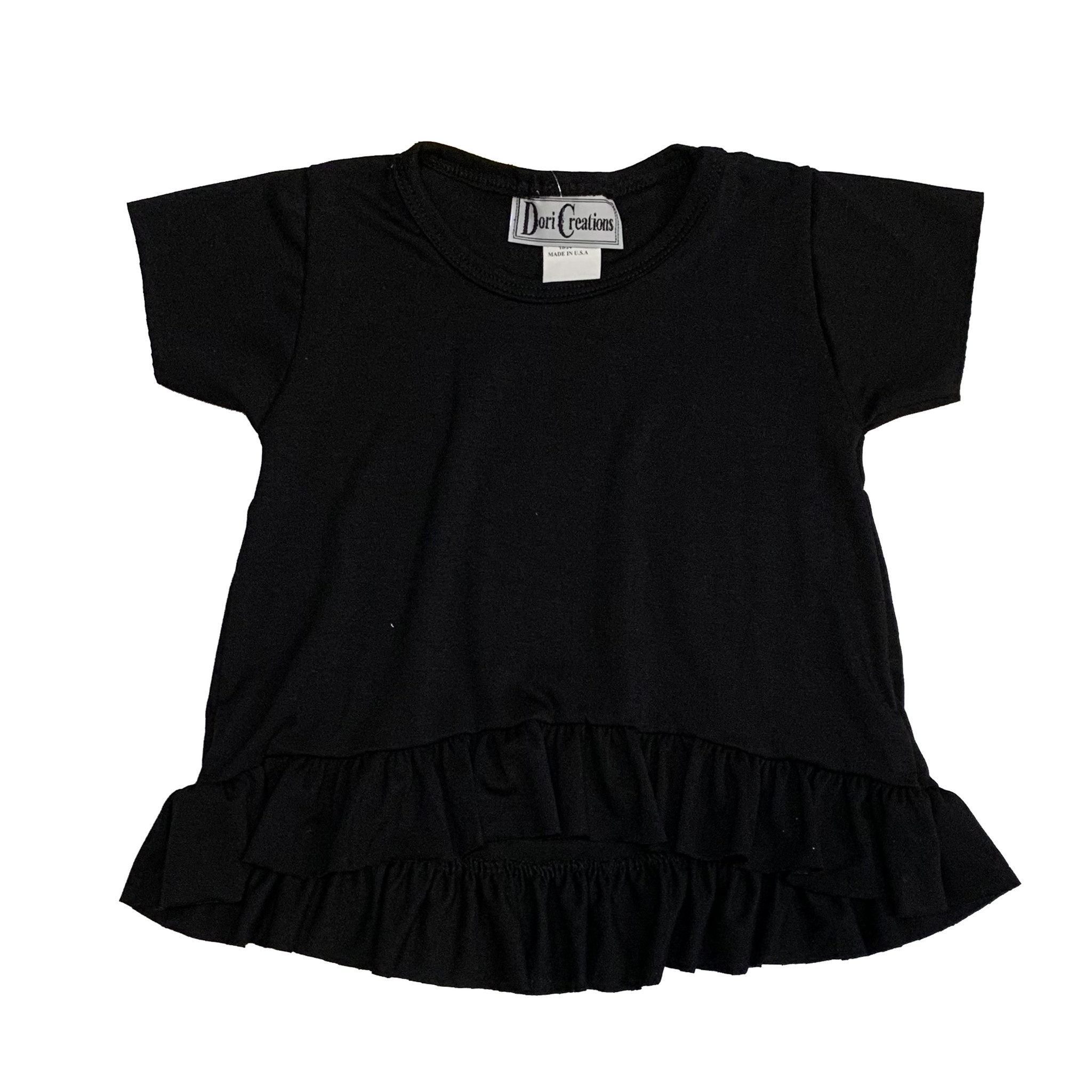 Dori Creations Black Ruffle Tee