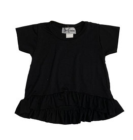 Dori Creations Black Ruffle Infant Tee