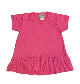 Dori Creations Pink Ruffle Infant Tee