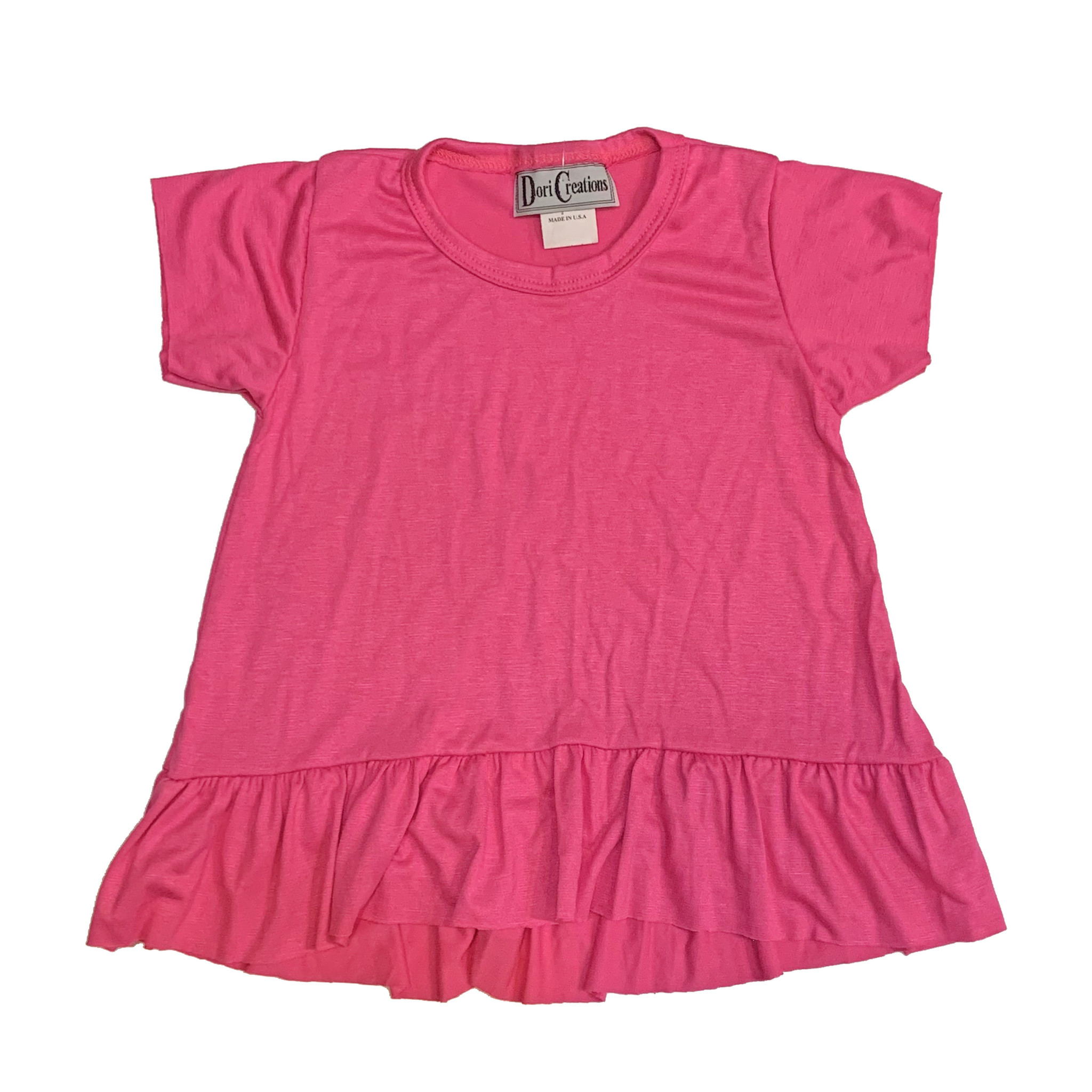 Dori Creations Pink Ruffle Infant Tee