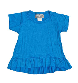 Dori Creations Turquoise Ruffle Infant Tee
