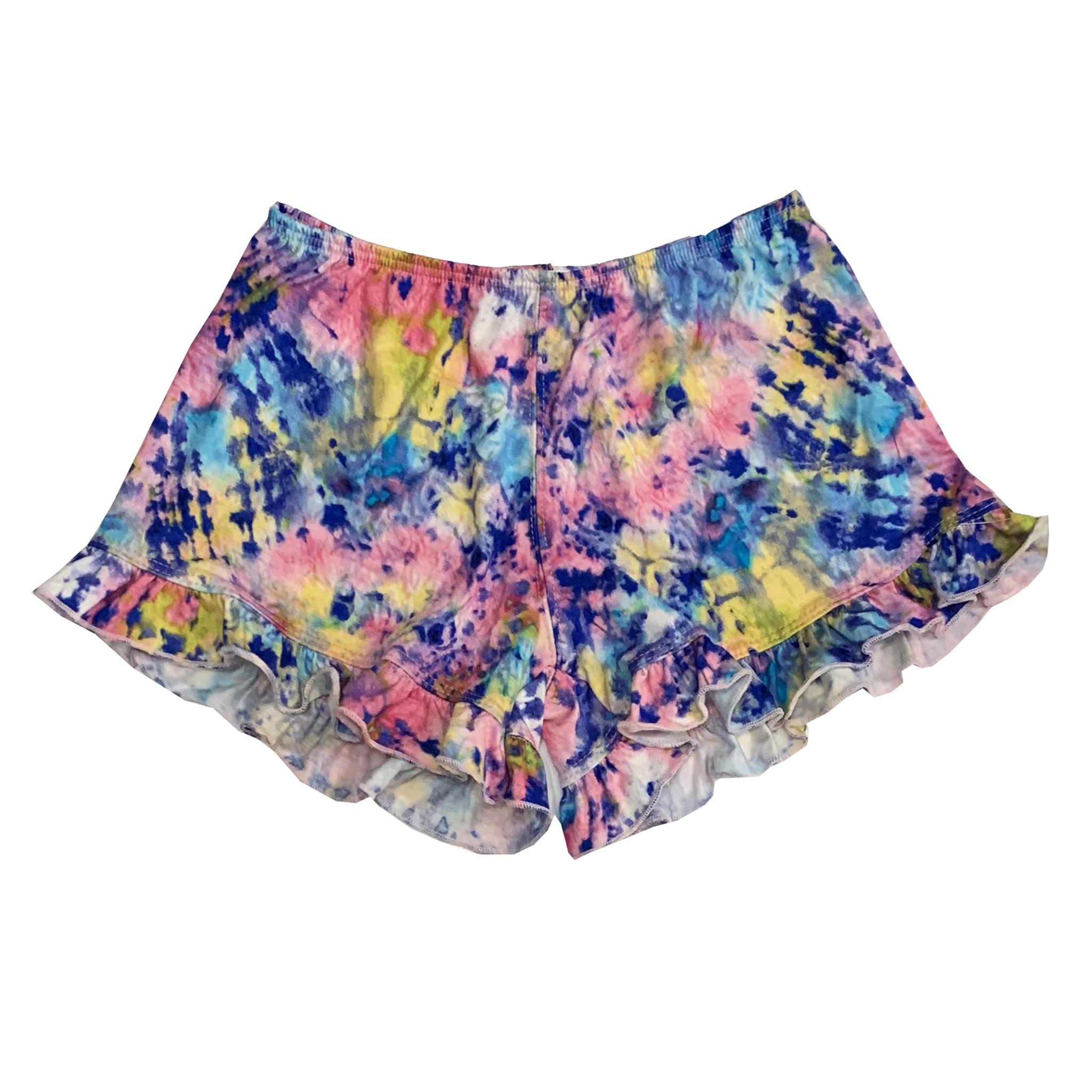 Dori Creations Splatter Dye Ruffle Shorts