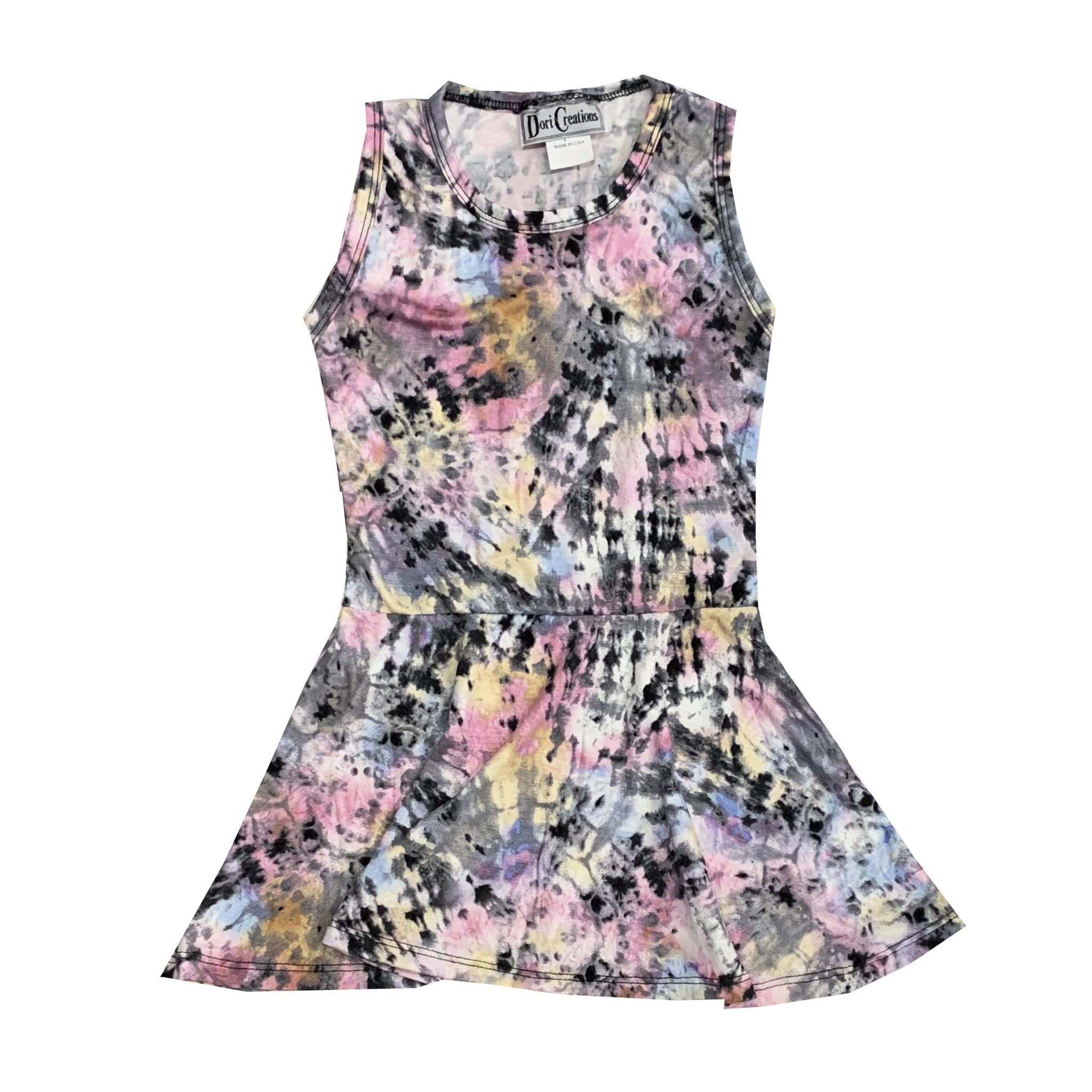 Dori Creations Pastel Splatter Dye Tank Dress