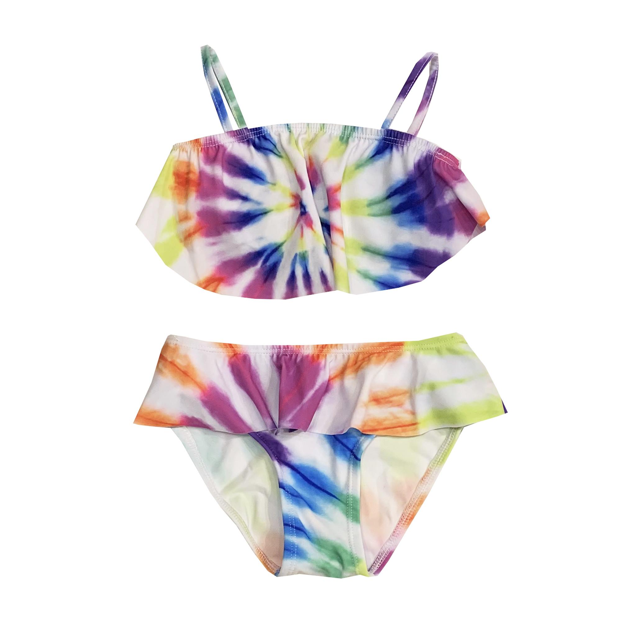 Flowers by Zoe Tie Dye Flounce Bikini