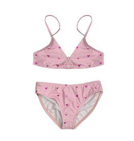 Limeapple Pink Foil Hearts Bikini