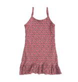 Les Tout Petits Pink Wave Slip Ruffle Dress