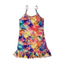 Les Tout Petits Rainbow Cloud Ruffle Dress