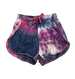 T2Love Pink & Navy Tie Dye Beach Shorts