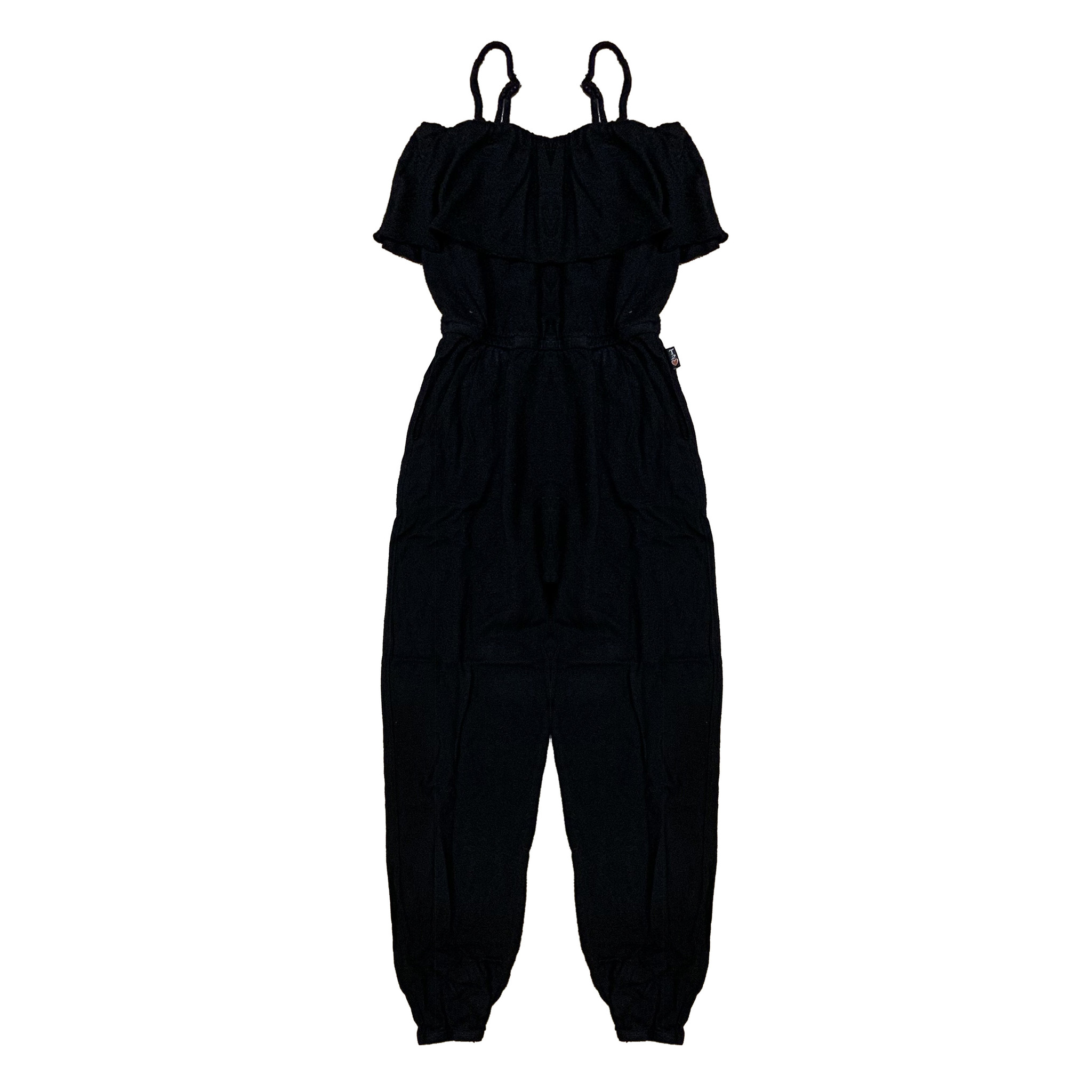 T2Love Black Ruffle Jumpsuit