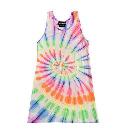 Global Love Neon Tie Dye Dress