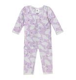Esme Lavender Swans Pajama Set