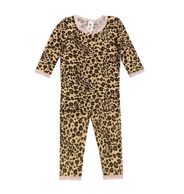 Esme Shimmer Leopard Infant Pajama Set