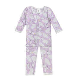 Esme Lavender Swans Infant Pajama Set