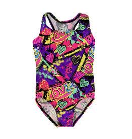 Dori Creations Purple Love 1 Pc Swimsuit