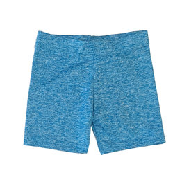 Dori Creations Turq/White Heathered Bike Shorts