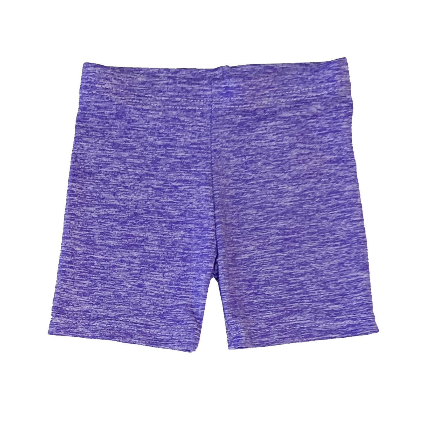 Dori Creations Violet/White Heathered Bike Shorts
