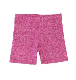 Dori Creations Pink/White Heathered Bike Shorts
