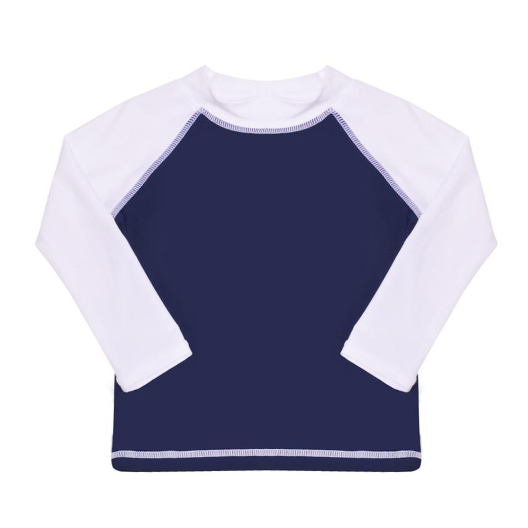 Flap Happy Navy & White Infant Rashguard