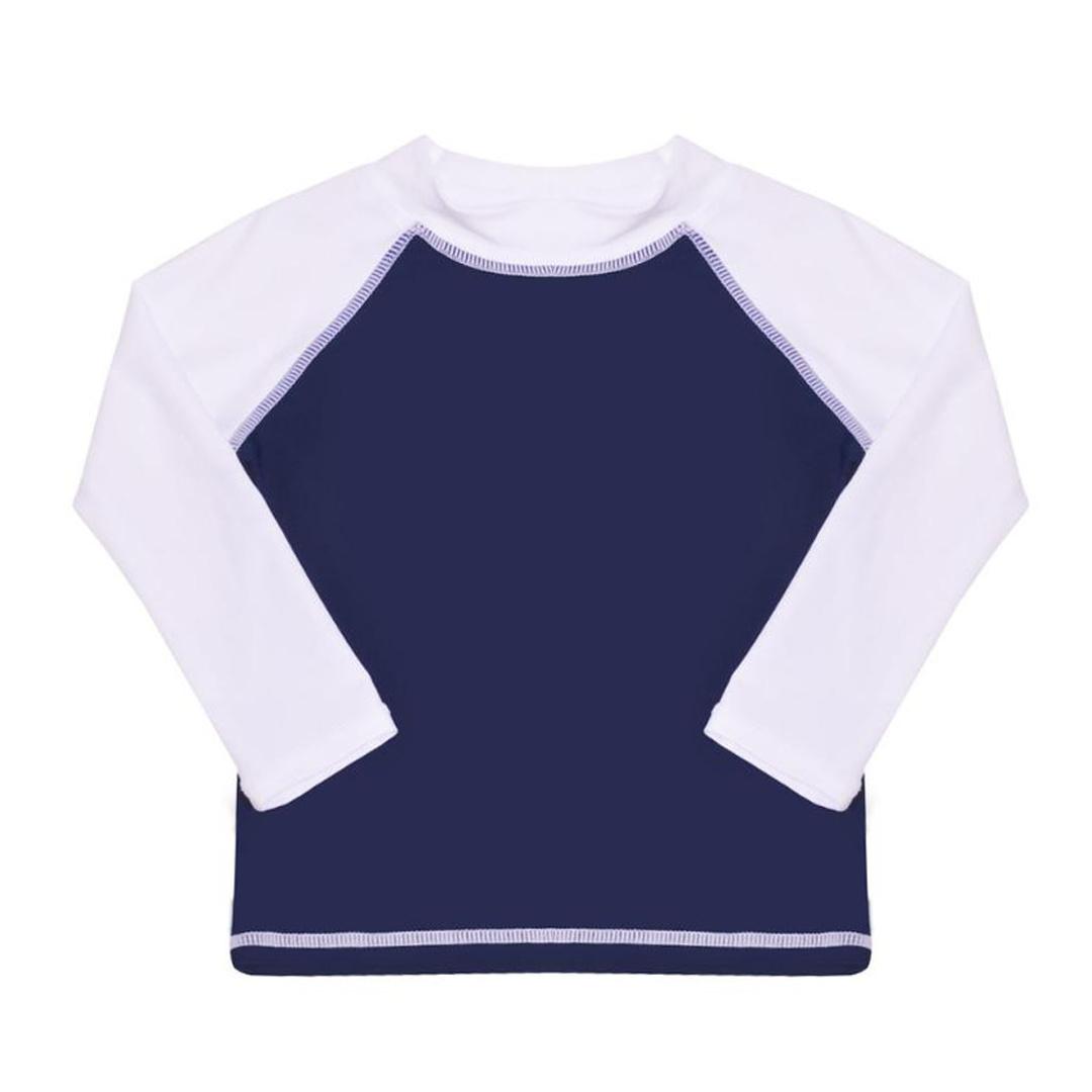 Flap Happy Navy & White Toddler Rashguard