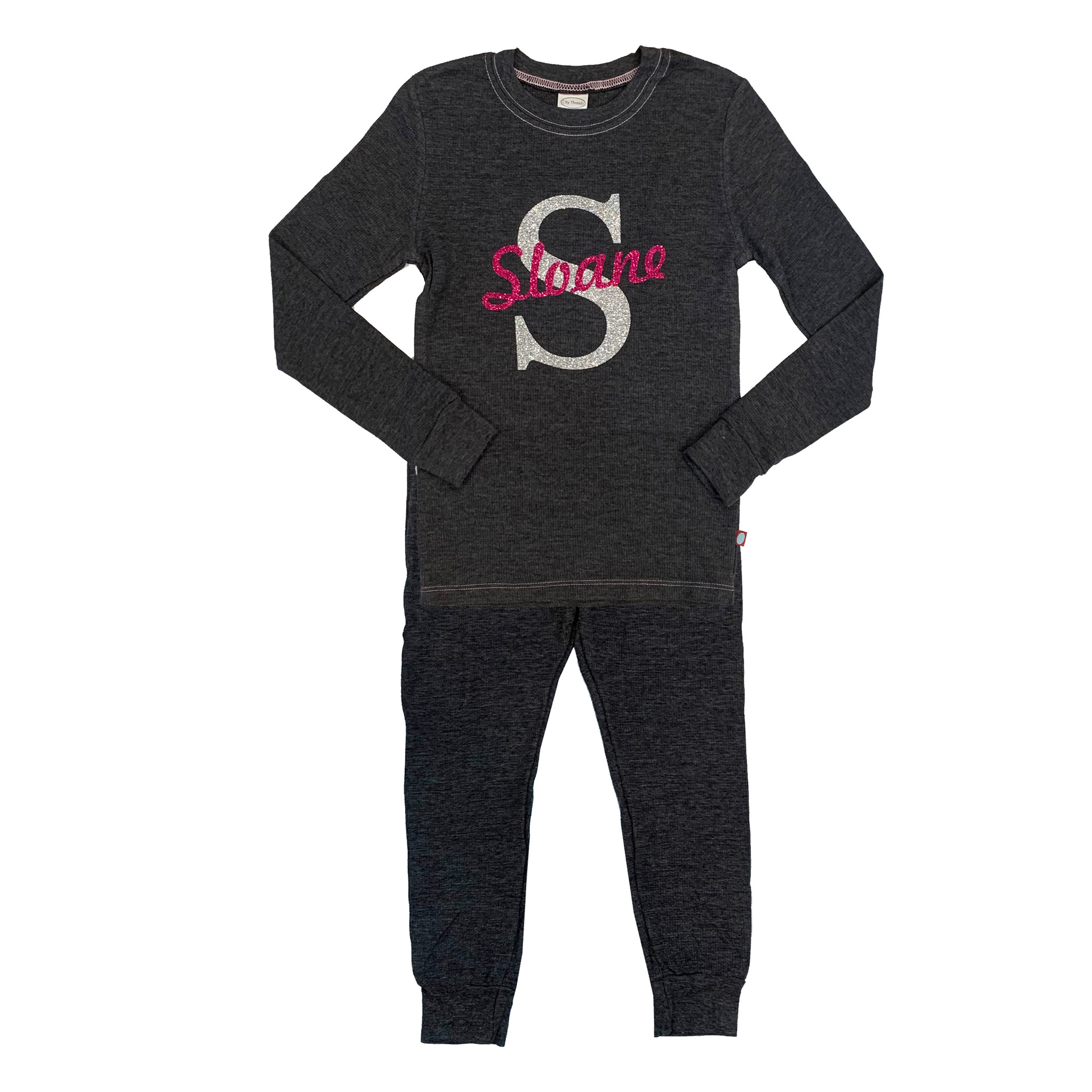 Charcoal Girls Custom Thermal Pajamas