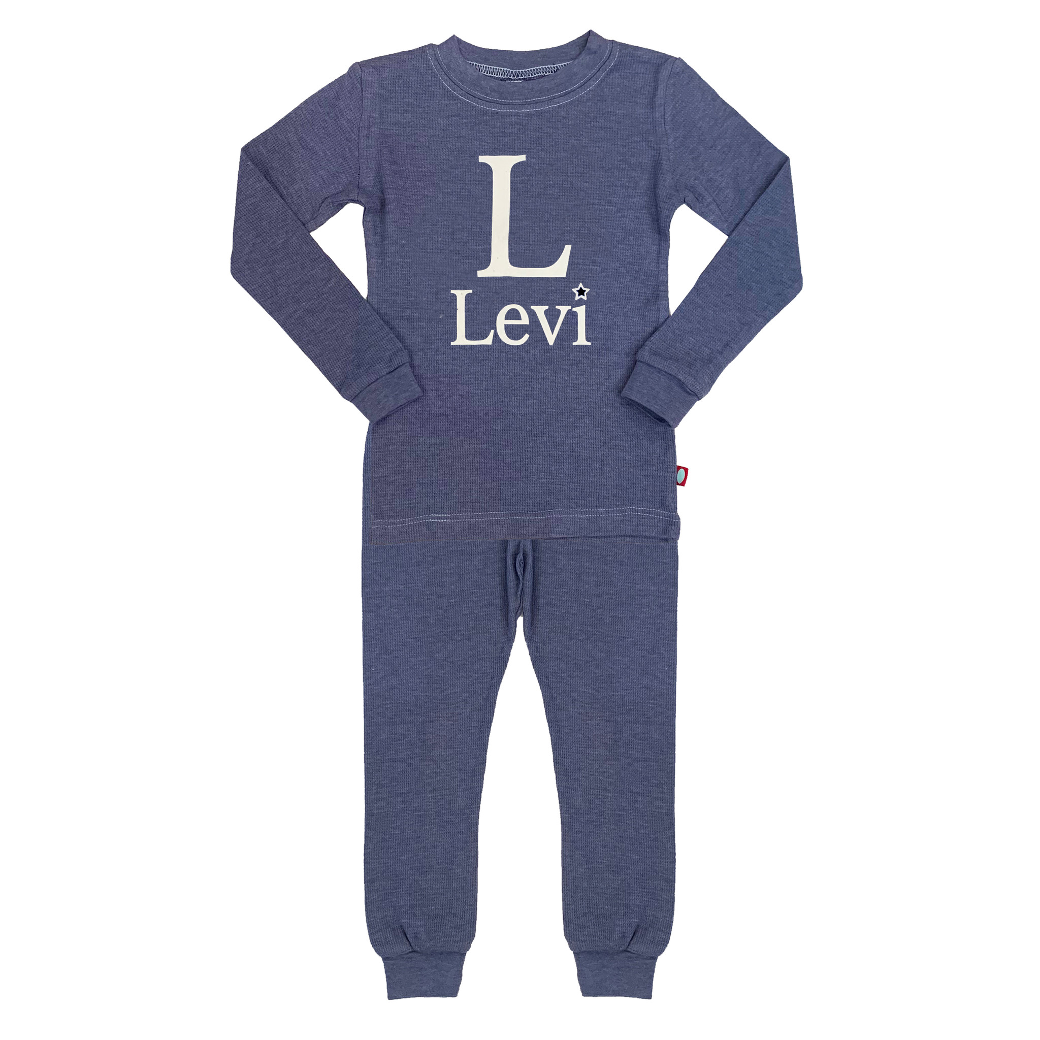 Blue Boys Custom Thermal Pajamas