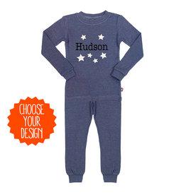 Blue Boys Custom Thermal Pajamas