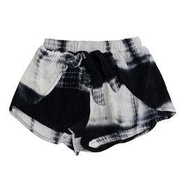 Vintage Havana Black Tie Dye Tie Front Shorts